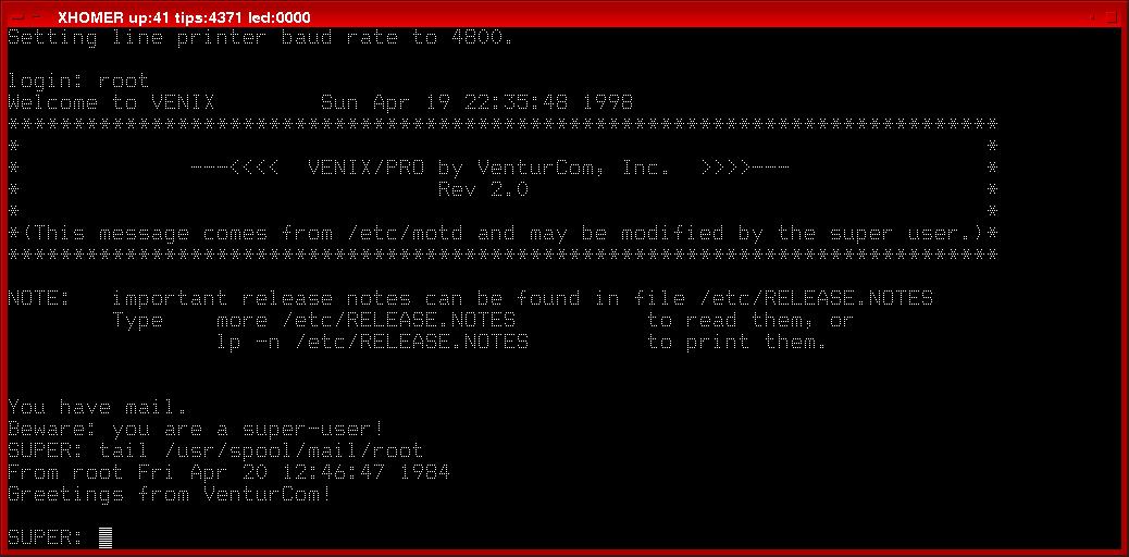 The Observation Deck » UNIX, circa 1984