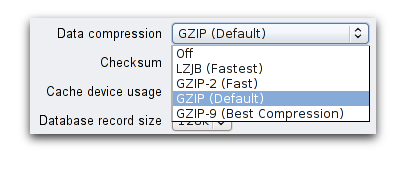 GZIP options
